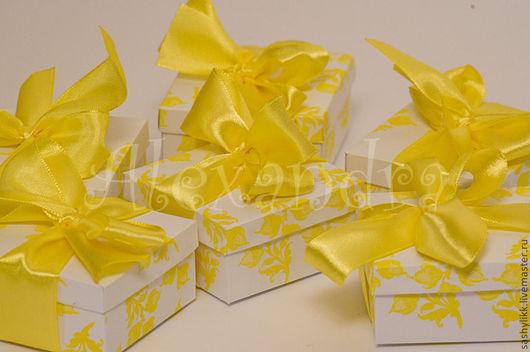 """Свадебные аксессуары ручной работы. Ярмарка Мастеров - ручная работа. Купить Бонбоньерка """"Одуванчик"""". Handmade. Кобочобка, для свадьбы, для подарка, желтый"""
