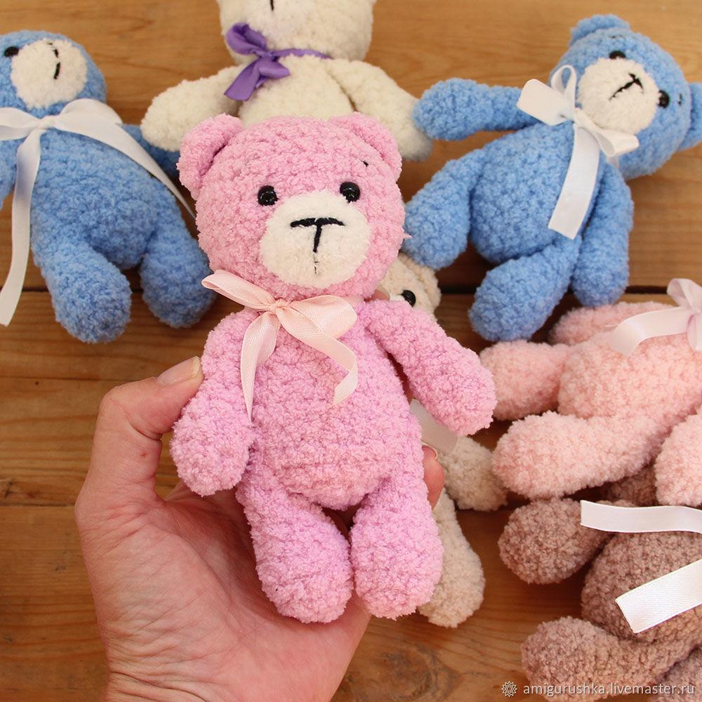 amigurumi to buy knit Teddy bear, soft bear, plush bear toy, knitted plush toys, knitted toys of plush yarn plush knit toy, photo, knitted soft IG