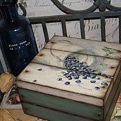 """Для дома и интерьера ручной работы. Ярмарка Мастеров - ручная работа Короб для чая """"Дыхание Кантри"""". Handmade."""