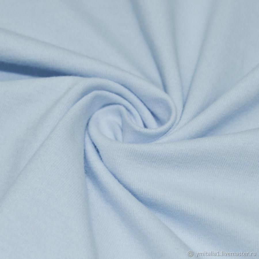 Трикотаж из хлопка с эластаном компакт пенье бледно-голубой DEHA – купить на Ярмарке Мастеров – O4M7ARU   Ткани, Москва