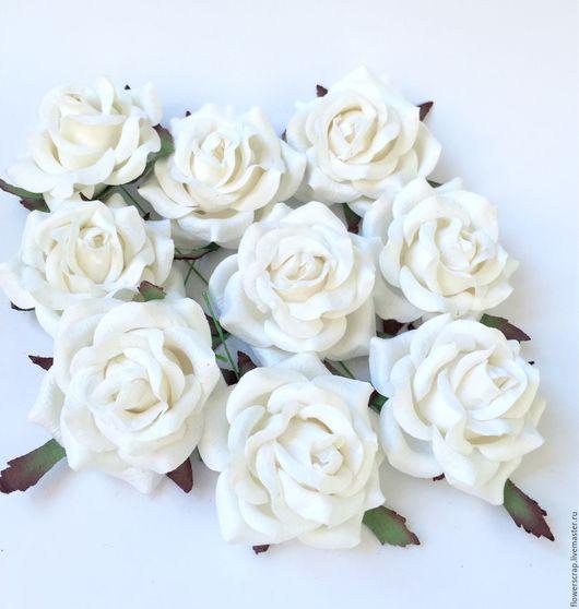Материалы для флористики ручной работы. Ярмарка Мастеров - ручная работа. Купить Розы, 5 см.. Handmade. Розы, розочки