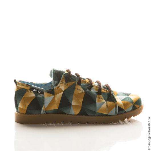 Обувь ручной работы. Ярмарка Мастеров - ручная работа. Купить Кеды 12-276 (СК). Handmade. Мода, кеды