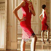Одежда ручной работы. Ярмарка Мастеров - ручная работа Платье Алое. Handmade.