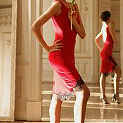 Одежда handmade. Livemaster - original item Dress scarlet. Handmade.