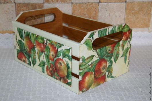 Корзины, коробы ручной работы. Ярмарка Мастеров - ручная работа. Купить Большая корзина для яблок. Handmade. Корзина, яблоки