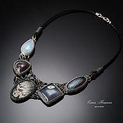 Украшения handmade. Livemaster - original item Grey. gray stones. Necklace Other Time. Handmade.