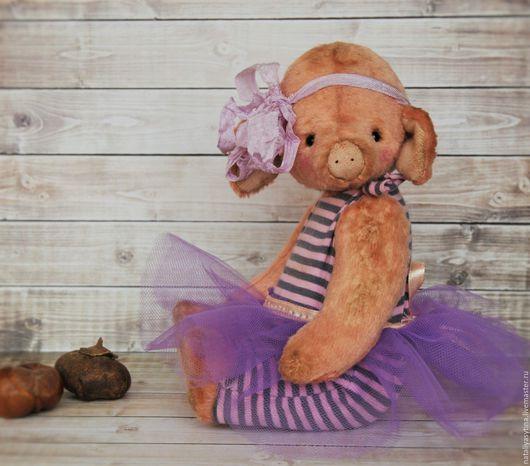 Мишки Тедди ручной работы. Ярмарка Мастеров - ручная работа. Купить Свинка Лили. Handmade. Розовый, игрушка ручной работы
