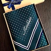 Аксессуары handmade. Livemaster - original item 7 days handkerchiefs mens 7 days Suite embroidered Monogram. Handmade.