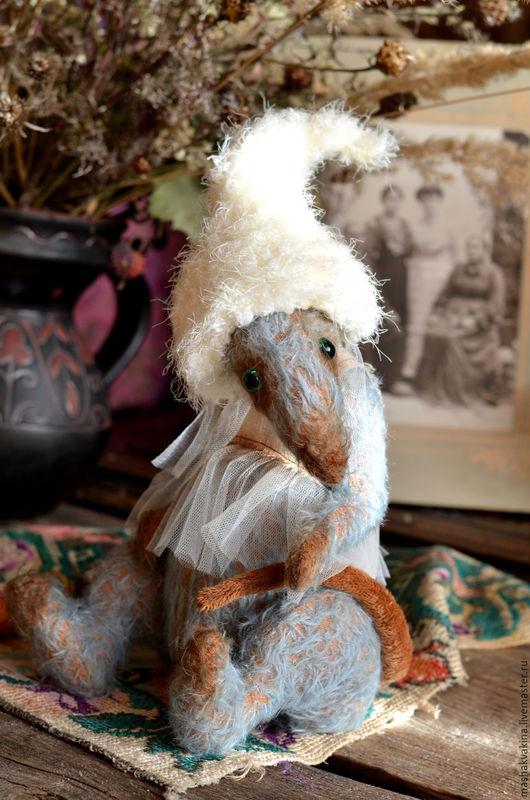 Мишки Тедди ручной работы. Ярмарка Мастеров - ручная работа. Купить Крыса Калерия:). Handmade. Тёмно-бирюзовый, мохер