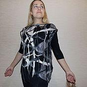 Одежда ручной работы. Ярмарка Мастеров - ручная работа Валяная туника сетка. Handmade.