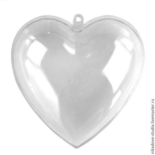 Декупаж и роспись ручной работы. Ярмарка Мастеров - ручная работа. Купить Сердце пластиковое, прозрачное, разборное (h 8 см), Ars Hobby. Handmade.