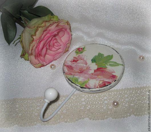 """Прихожая ручной работы. Ярмарка Мастеров - ручная работа. Купить Вешалка """"Розы"""". Handmade. Роза, ключница, ретро, фанерная заготовка"""