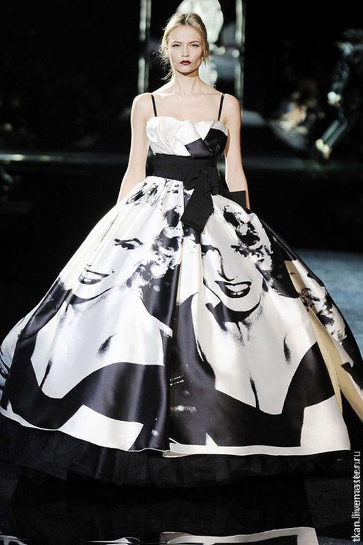 """Платья ручной работы. Ярмарка Мастеров - ручная работа. Купить Платье """"Монро"""". Handmade. Чёрно-белый, платье, платье на заказ"""