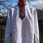 Одежда ручной работы. Ярмарка Мастеров - ручная работа Рубашка с вышивкой Вересень. Handmade.