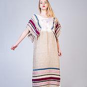 Одежда handmade. Livemaster - original item Felted dress wool and linen