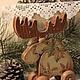 """Новый год 2018 ручной работы. Лось """" Лесной житель """". Мария Константинова. Интернет-магазин Ярмарка Мастеров. Коричневый"""