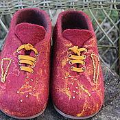 """Обувь ручной работы. Ярмарка Мастеров - ручная работа Тапочки валяные """"Комфорт"""". Handmade."""
