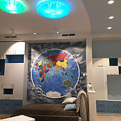 Дизайн и реклама ручной работы. Ярмарка Мастеров - ручная работа Карта Мира. Handmade.