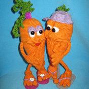 Материалы для творчества ручной работы. Ярмарка Мастеров - ручная работа МК по вязанию игрушки Любовь-морковь. Handmade.