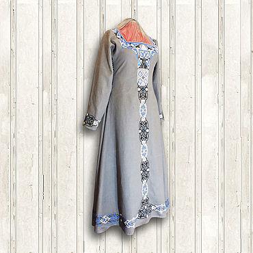 Русский стиль ручной работы. Ярмарка Мастеров - ручная работа Льняное платье Валькирия. Handmade.