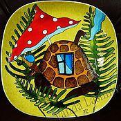 """Посуда ручной работы. Ярмарка Мастеров - ручная работа Декоративная тарелка""""Черепаха"""". Handmade."""