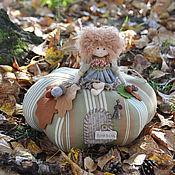 """Куклы и игрушки ручной работы. Ярмарка Мастеров - ручная работа """"Осень на тыкве"""", интерьерная композиция. Handmade."""