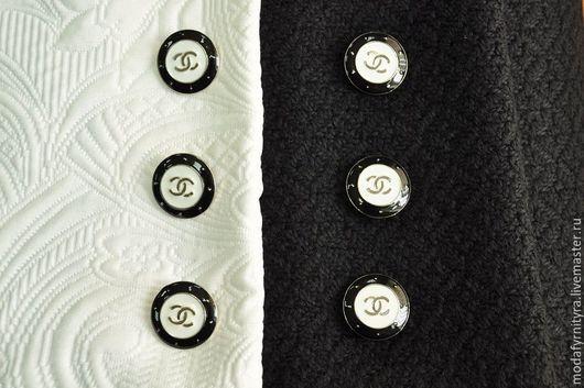 """Шитье ручной работы. Ярмарка Мастеров - ручная работа. Купить Пуговицы пришивные в стиле """"CHANEL"""". Handmade. Пуговицы для одежды"""