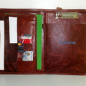 Organizer handmade. Livemaster - original item Leather brown folder. Handmade.