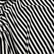 Ткани ручной работы. Ярмарка Мастеров - ручная работа Трикотажное полотно в полоску. Артикул: OM1904027. Handmade.