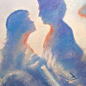 Картины и панно handmade. Livemaster - original item Picture of You-my sky. Romance, love, family. Sea, blue. Handmade.