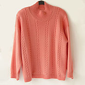 Одежда handmade. Livemaster - original item Knitted sweater with a high stand-up collar. Handmade.