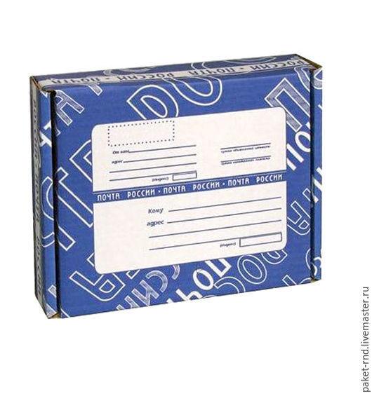Упаковка ручной работы. Ярмарка Мастеров - ручная работа. Купить Почтовая коробка Е №1. Handmade. Комбинированный, синий