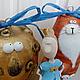 Новый год 2017 ручной работы. Принцесса,кот и луна - ёлочные игрушки. Котики от Татьяны Гавриловой. Интернет-магазин Ярмарка Мастеров.