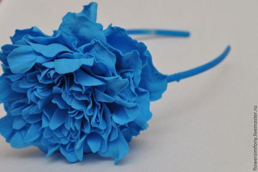 Диадемы, обручи ручной работы. Ярмарка Мастеров - ручная работа. Купить Ободок для девочки Голубые грёзы. Handmade. Голубой