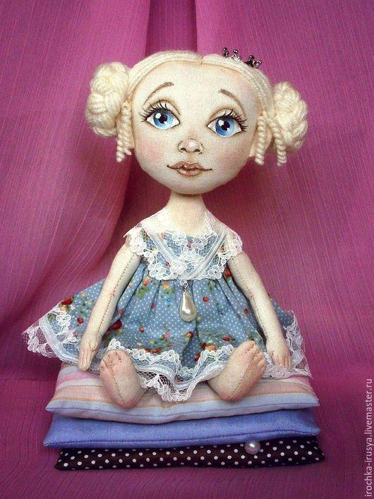 Сказочные персонажи ручной работы. Ярмарка Мастеров - ручная работа. Купить Принцесса на горошине. Handmade. Комбинированный, текстильная кукла