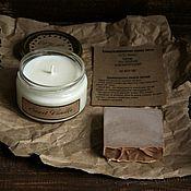 Косметика ручной работы. Ярмарка Мастеров - ручная работа Подарочный набор Sweet Vanilla (соевая свеча+мыло). Handmade.