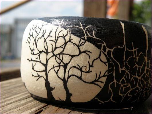 """Браслеты ручной работы. Ярмарка Мастеров - ручная работа. Купить Браслет """"Деревья"""". Handmade. Широкий браслет, деревья"""