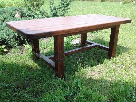 Мебель ручной работы. Ярмарка Мастеров - ручная работа. Купить Стол садовый. Handmade. Стол, садовая мебель, деревянная мебель