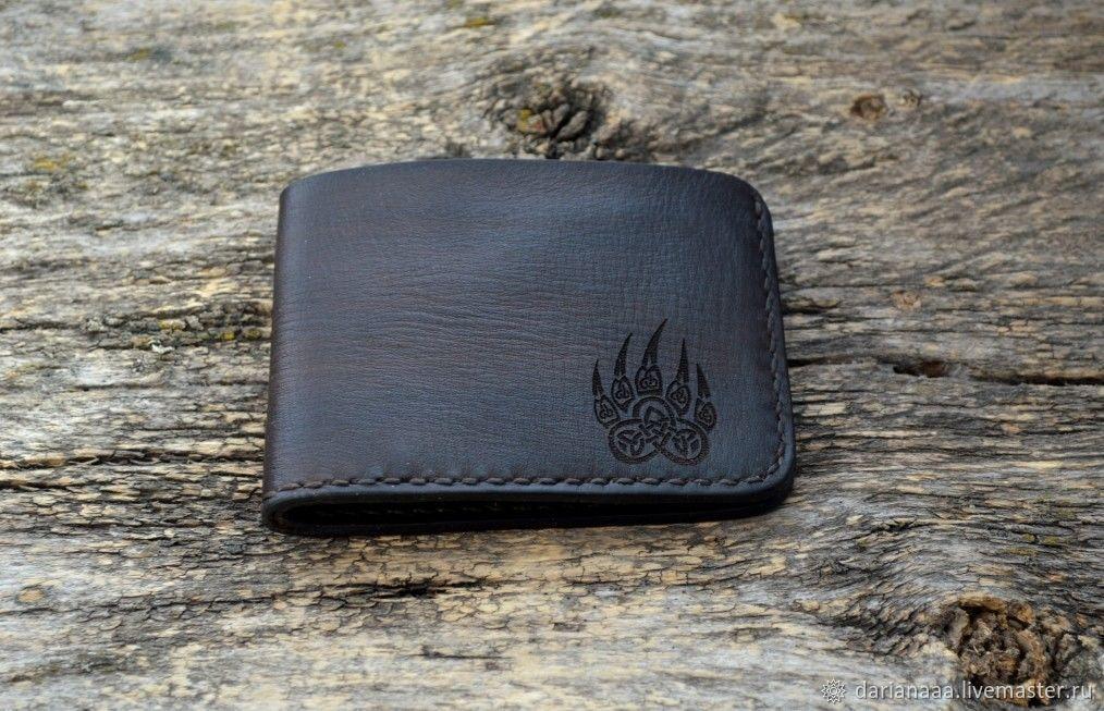Men's mini wallet leather №2, Wallets, Sizran,  Фото №1