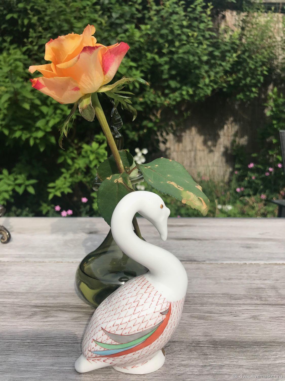Figurine porcelain 'Goose', Hollohanza, Hungary, Vintage Souvenirs, Arnhem,  Фото №1