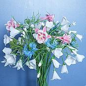 Цветы и флористика ручной работы. Ярмарка Мастеров - ручная работа Букет летних цветов из ХФ. Handmade.