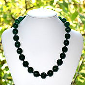 Украшения handmade. Livemaster - original item Large cut chrysoprase beads. Handmade.