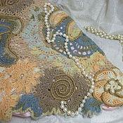 """Одежда ручной работы. Ярмарка Мастеров - ручная работа Пуловер женский вязаный """"Каменный цветок"""". Handmade."""
