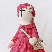 Куклы и игрушки ручной работы. Ярмарка Мастеров - ручная работа Зайка тильда Парижанка - мягкая игрушка. Handmade.