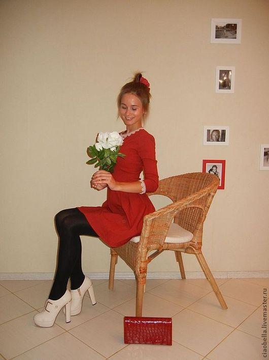 """Платья ручной работы. Ярмарка Мастеров - ручная работа. Купить Платье """"Рябина Красная"""". Handmade. Ярко-красный, красное платье"""