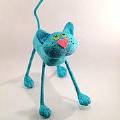 Куклы и игрушки ручной работы. Ярмарка Мастеров - ручная работа Бирюзовый кот  )). Handmade.