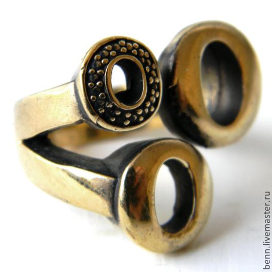 """Кольца ручной работы. Ярмарка Мастеров - ручная работа. Купить Кольцо """"Три О"""". Handmade. Амулет, украшение, бронзовое кольцо"""