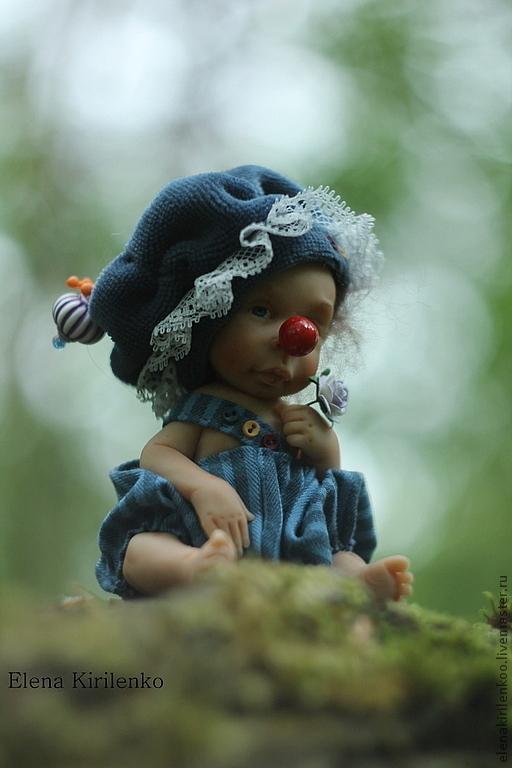 Куклы-младенцы и reborn ручной работы. Ярмарка Мастеров - ручная работа. Купить Жорик. Handmade. Тёмно-синий, краски масляные