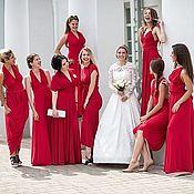 Одежда ручной работы. Ярмарка Мастеров - ручная работа Красные Платья для подружек невесты, красные платья-трансформеры. Handmade.