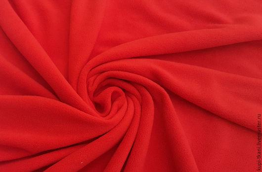 Шитье ручной работы. Ярмарка Мастеров - ручная работа. Купить Флис красный. Handmade. Флис, флисовая ткань, ткань для творчества
